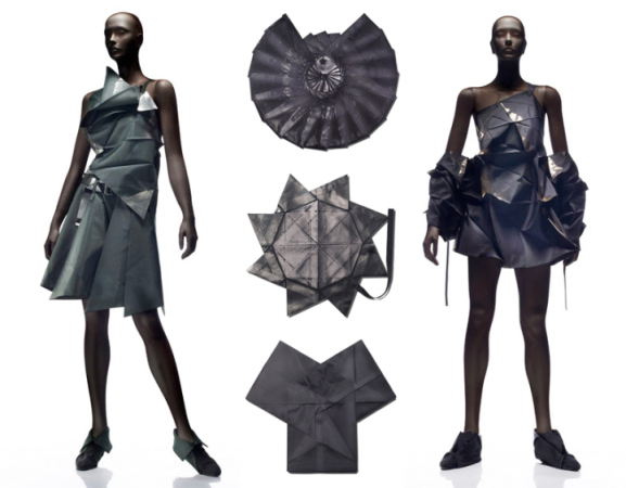 Images from the Issey Miyake 132 5 origami-inspired collection 2010