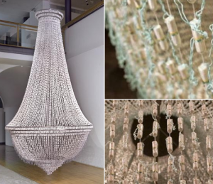 The Bride - Tampon Chandelier by Joana Vasconcelos via https://www.tradesy.com/blog/bride-the-tampon-chandelier/