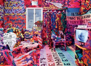Crocheted apartment, Brooklyn Street Art