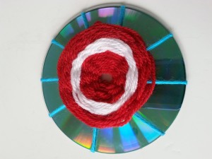 Yarn wraps on CD