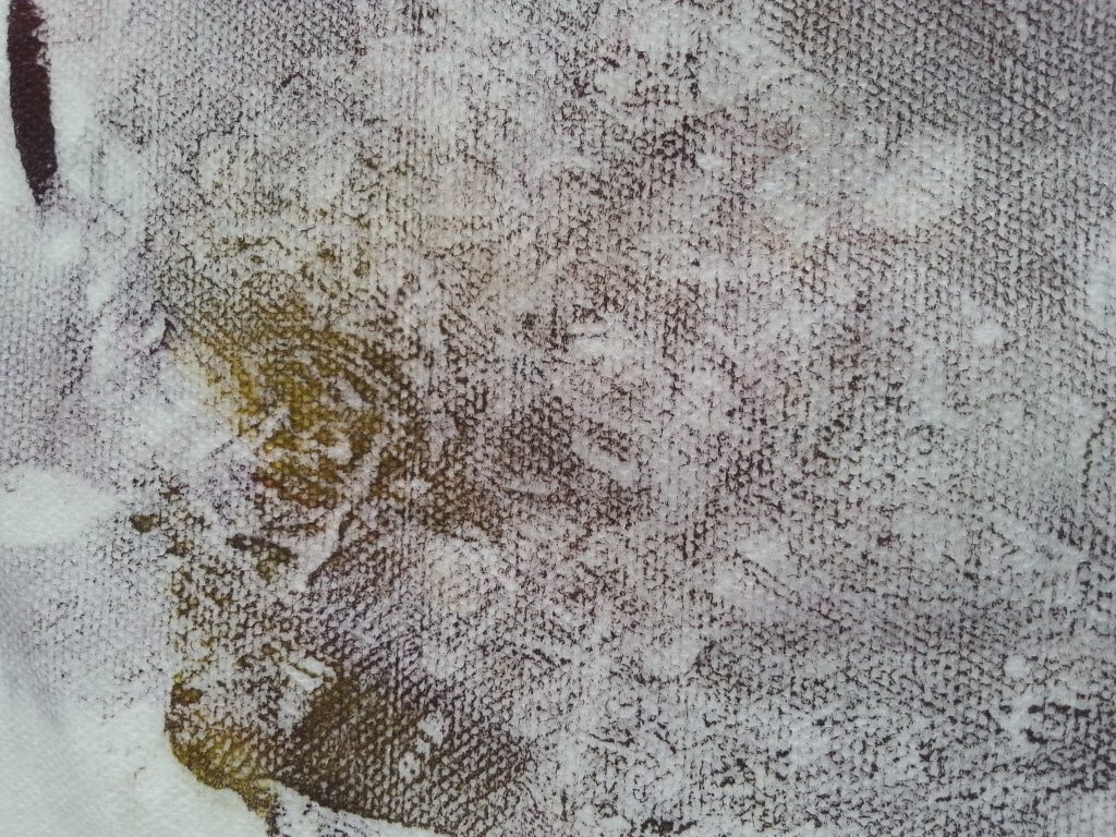 OCA MMT Assignment 4 - Monoprinting - Exercise One - Mark-making - Scrumpled plastic