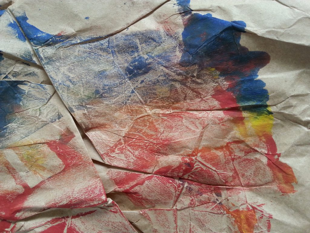 MMT Assignment 4 - Monoprinting - Exercise One - Mark-making - Crumpled paper