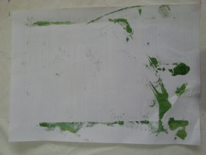 MMT Assignment 4 - Monoprinting - Exercise Two - Back-drawing, Dishcloth