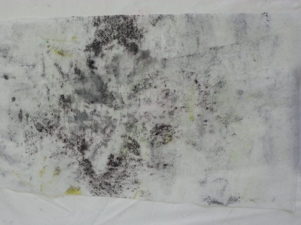 MMT Assignment 4 - Monoprinting - Exercise One - Mark-making - Scrumpled plastic