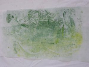 OCA MMT Assignment 4 - Monoprinting - Exercise One - Mark-making - Credit card