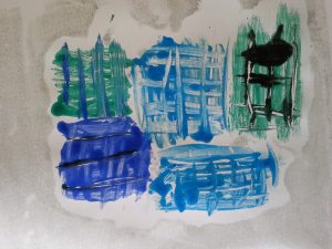 MMT Assignment 4 - Monoprinting - Exercise Three - Drawing on the plate - credit card