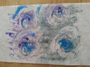 MMT Assignment 4 - Monoprinting - Exercise Two - Back Drawing - Finger printing