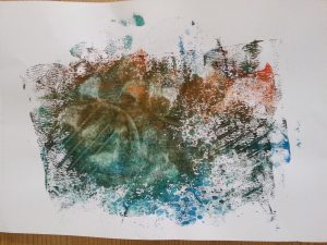 MMT Assignment 4 - Monoprinting - Exercise Two - Back Drawing - Potato Masher