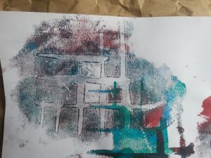 MMT Assignment 4 - Monoprinting - Exercise Four - Working with stencils