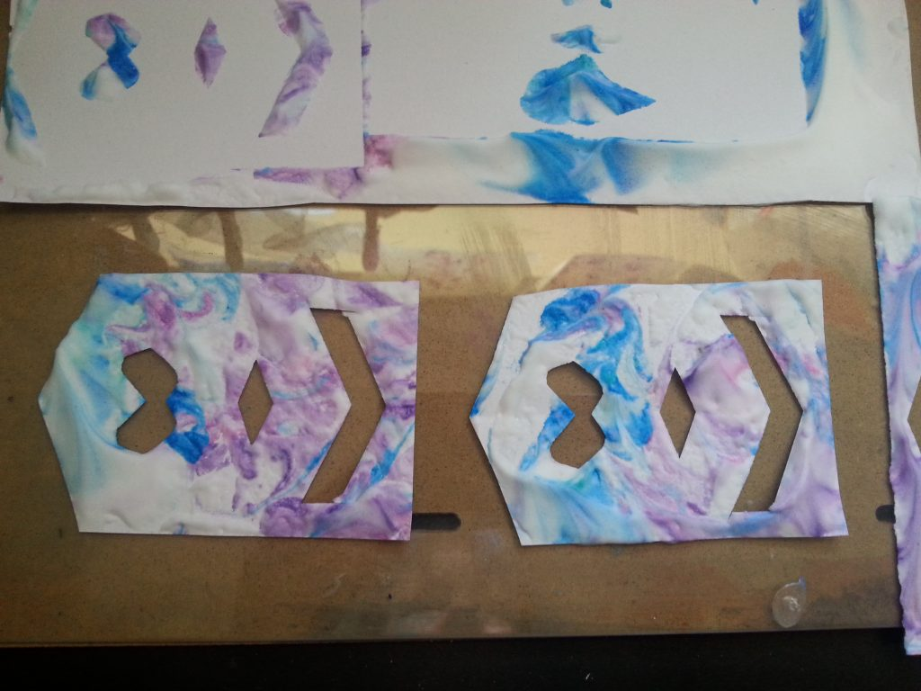 MMT Assignment 4 - Monoprinting - Exercise 4 - Working with stencils