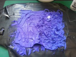 Debbie Tomkies - OCA MMT - Assignment 3 - Moulding from a surface - Golden light moulding paste