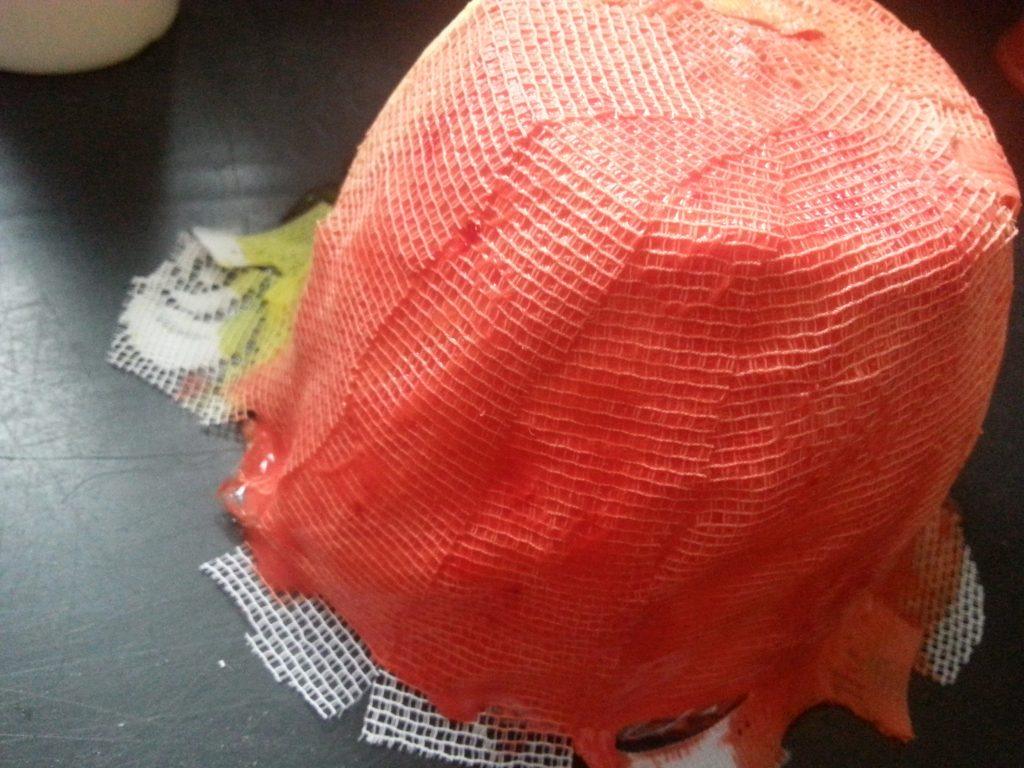 Debbie Tomkies - OCA MMT - Assignment 3 - Moulding from a surface - PVA and fabric bowl