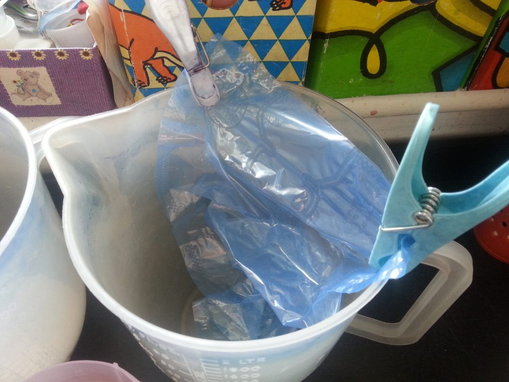 Debbie Tomkies - OCA MMT - Assignment Three - Casting the internal space of a vessel - Flour paste plaster of Paris