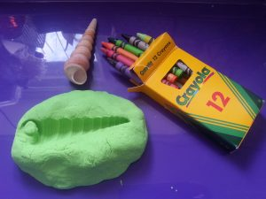 Assingment Three - Casting the internal space of a vessel - Kinetic sand and wax crayon